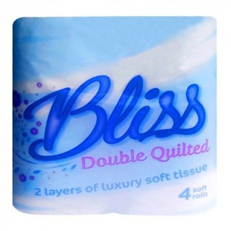 Bliss Double Quilted Pure Pulp 2 Ply Toilet Rolls