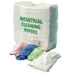 Assorted Coloured Industrial Wiping Rags 10kg