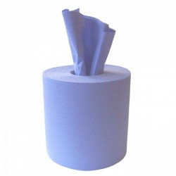 Economy Centrefeed Roll (embossed) 2 ply Blue 19cm x 150m (Pack Of 6 Rolls)