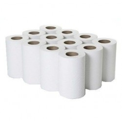Mini-Centrefeed Rolls 1ply White 195mm x 120m (12 Rolls)
